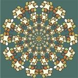 Rundes Verzierungs-Muster Blumenverzierung des hohen Details Stockfotografie