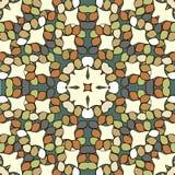 Rundes Verzierungs-Muster Dekorative Elemente der Weinlese Stockbild