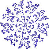 Rundes von Hand gezeichnetes Muster Stockfoto