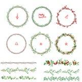 Rundes Weihnachten windt Endlose Musterbürsten Stockbilder