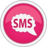 Rundes Zeichen, das SMS las Stockfoto