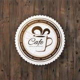 Rundes Zeichen des Cafés Lizenzfreie Stockfotografie