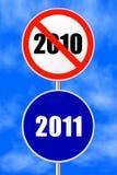 Rundes Zeichen neues Jahr Stockfoto