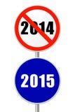 Rundes Zeichen neues Jahr Lizenzfreie Stockfotografie