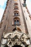 Rundetaarn, of Rundetårn om Toren, zijn een 17de eeuw t Stock Foto's