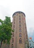 Rundetaarn (torre redonda) em Copenhaga central, Dinamarca Foto de Stock Royalty Free