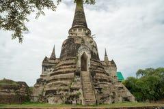 Rundfahrt Thailand - Ayutthaya - Wat Phra Sri Sanpet im Juli 2017 stockbild