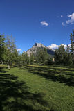 Rundle et Central Park de Banff Photo stock