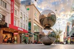Rundle galleriabollar, Adelaide stad Arkivfoto