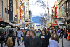 Rundle Mall in Adelaide, South Australia Stock Photos