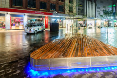 Rundle-Mall in der Nacht Stockbild