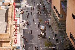 Rundle-Mallansicht von oben Stockfotografie