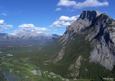 Rundle mountain in banff royalty free stock photo