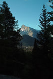 Rundle Mountain, Banff Alberta Canada. Stock Photos