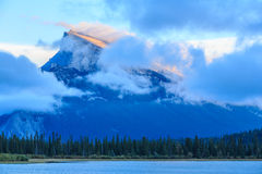 Rundle Mountain Royalty Free Stock Image