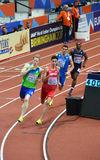 rundor för 400m mankvalificering royaltyfria foton