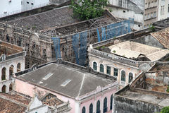 Rundown Buildings in Salvador Royalty Free Stock Photos