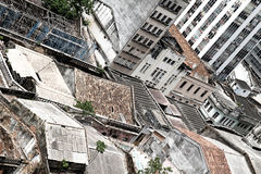 Rundown Buildings in Salvador Stock Photography