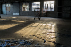 Rundown and Deserted Factory in a State of Decay Royalty Free Stock Image