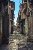 Rundown dirty alley in bad neighborhood, asia Stock Photos