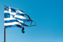 Rundown Greece Flag Stock Images