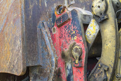 Rundown machine detail. Detail of a rundown construction machine Royalty Free Stock Photography