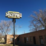 Rundown motel. Royalty Free Stock Photography