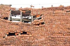 Rundown old roof Stock Photo