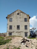 Rundown Quartermaster building on Alcatraz Island Royalty Free Stock Image
