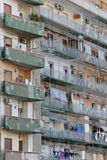 Rundown residential building. Image taken of a rundown block of apartments in Naples, Italy Stock Images