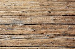 Rundown wooden floor Stock Photo