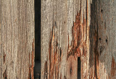 Rundown wooden planks Royalty Free Stock Photography