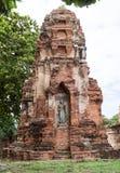 Rundresa Thailand juli 2017 - Ayutthaya - Wat Maha That Fotografering för Bildbyråer