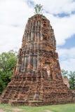 Rundresa Thailand juli 2017 - Ayutthaya - Wat Maha That Arkivfoton