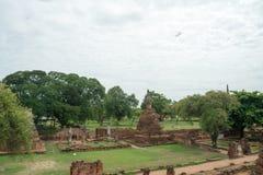 Rundresa Thailand juli 2017 - Ayutthaya - Wat Phra Sri Sanpet Arkivbilder