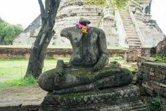 Rundresa Thailand juli 2017 - Ayutthaya - Wat Phra Sri Sanpet Royaltyfri Bild