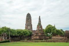 Rundresa Thailand juli 2017 - Ayutthaya - Wat Phra Sri Sanpet Royaltyfria Bilder
