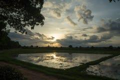Rundresa Thailand juli 2017 - Sukhothai Royaltyfri Foto