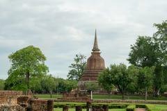 RundresaThailand juli 2017 - Sukhothai - historia parkerar Royaltyfri Bild