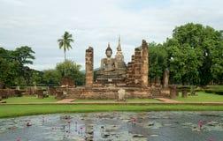 RundresaThailand juli 2017 - Sukhothai - historia parkerar Fotografering för Bildbyråer
