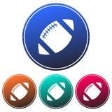 Rundschreiben, Amerikanerikone Fußball der Steigung weiße Vier Varianten vektor abbildung