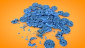 Rundschreiben zerstörte Labyrinthformen, Wiedergabe 3D Stockbilder