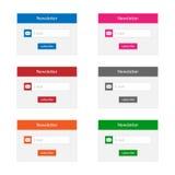 Newsletterformen Stockbild