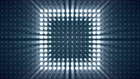 Rundumleuchte-blinkende Hintergrund Vj-Schleifen-Blaulicht-Brett-Wand von Lichtern Kasten beleuchtet Wand-Schleifen-Hintergrund-M Stockbild