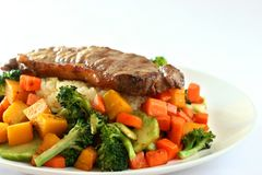 Rundvlees & rijst Royalty-vrije Stock Afbeelding