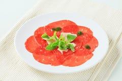 Rundvlees Carpaccio stock afbeeldingen