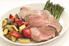 Rundvlees en groenten Royalty-vrije Stock Foto