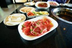 Rundvlees en paddestoel voor BBQ Royalty-vrije Stock Fotografie