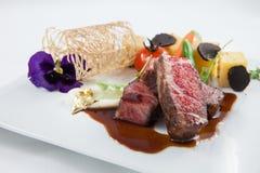 Rundvlees het fijne dineren Stock Fotografie