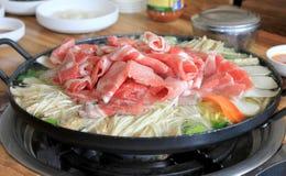 Rundvlees hete pot Stock Foto